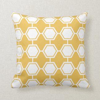 Bright Classics Yellow Hexagon Pattern Throw Pillow