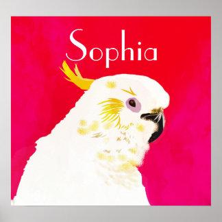 Bright Cockatoo Bird Poster