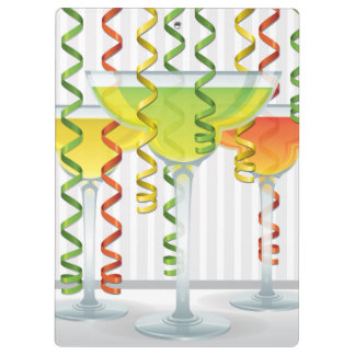 Bright cocktail and ribbon clipboards