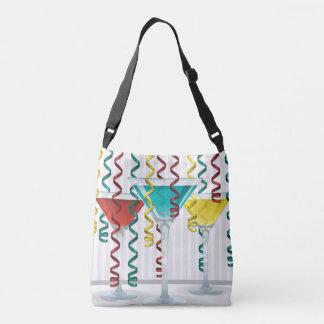 Bright cocktail and ribbon crossbody bag