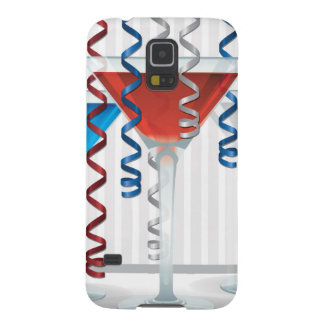 Bright cocktail and ribbon galaxy s5 cover