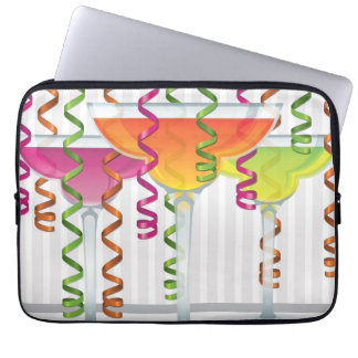 Bright cocktail and ribbon laptop computer sleeve