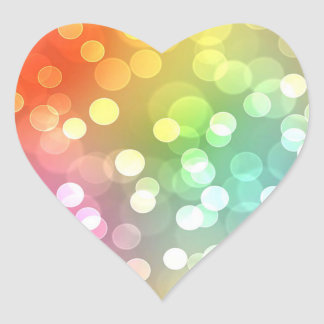 Bright color and confetti heart sticker