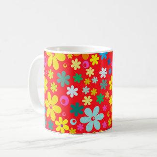 BRIGHT COLOR FLOWERS CUTE  FLOWER PATTERN GIFT, COFFEE MUG