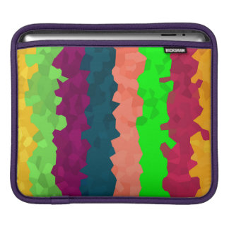 Bright Color Lines Abstract Background iPad Sleeve