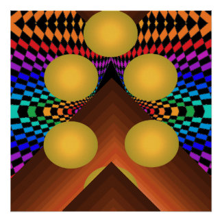 Bright Color Pop Art Geometric Poster 1