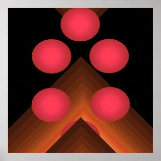 Bright Color Pop Art Geometric Poster 10