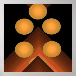 Bright Color Pop Art Geometric Poster 1b