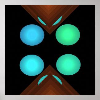 Bright Color Pop Art Geometric Poster 3