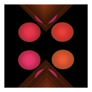 Bright Color Pop Art Geometric Poster 4