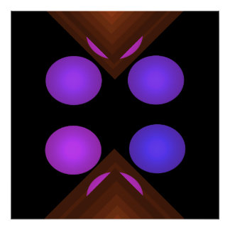 Bright Color Pop Art Geometric Poster 6