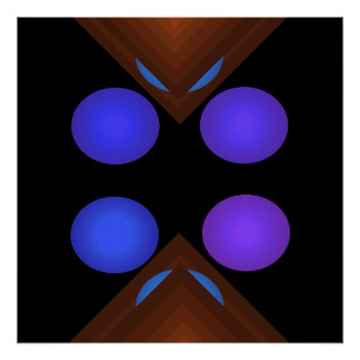 Bright Color Pop Art Geometric Poster 7