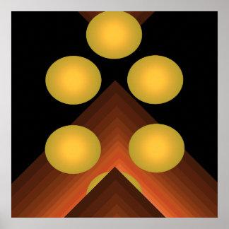 Bright Color Pop Art Geometric Poster 8
