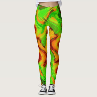 Bright Colored Abstract Design Leggings