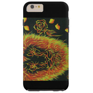 bright colored lion with a rose tough iPhone 6 plus case