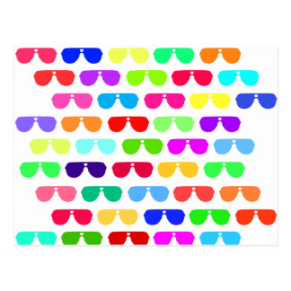 Bright Colored Summer Sunglasses Postcard
