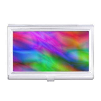 Bright colorful abrstract neon image business card holder