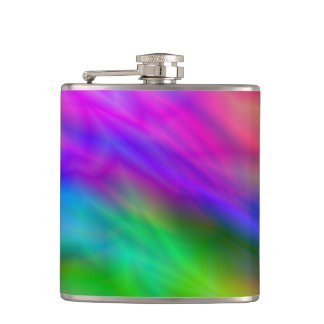 Bright colorful abrstract neon image flasks