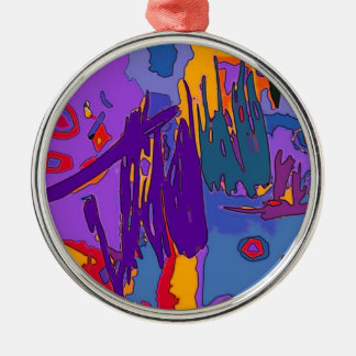 Bright Colorful Abstract Art Ornament