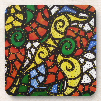 Bright Colorful Abstract Coaster