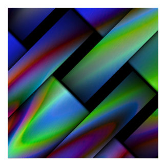 Bright Colorful Abstract Poster