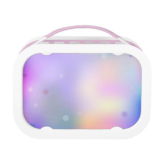 Bright colorful abstract print lunch box