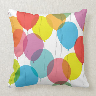 Bright Colorful Birthday Balloons Pillow
