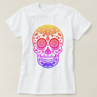 Bright Colorful Candy Sugar Skull Shirt