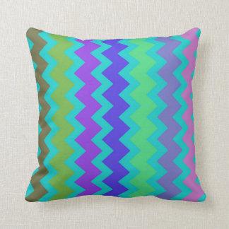 Bright colorful chevron zigzag throw pillow
