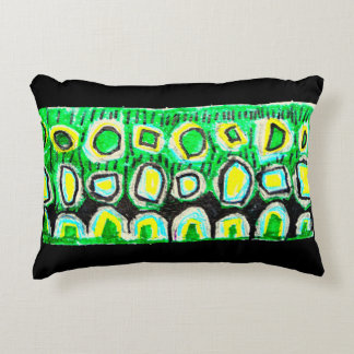 Bright, colorful  child designed pillow, 2 sided accent pillow