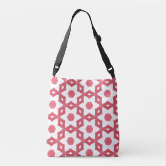 Bright Colorful Construction Paper Geometric Art Crossbody Bag