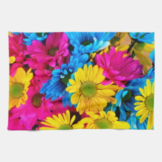 Bright Colorful Daisies Kitchen Towel