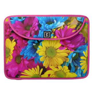 Bright Colorful Daisies MacBook Pro Sleeves