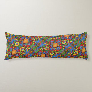 Bright Colorful Floral Pattern Body Pillow