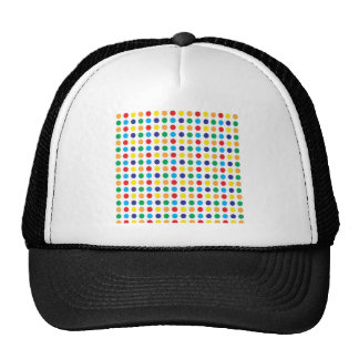 Bright Colorful Fun Polka Dots Girly Pattern Hat
