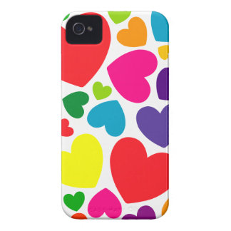 Bright Colorful Girly Hearts iPhone 4 Cover