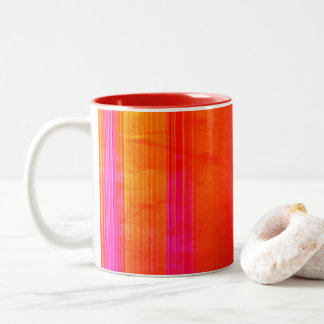 Bright Colorful Grunge Pattern Cup
