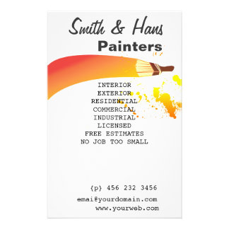 Promotional Card For Painting Jobs