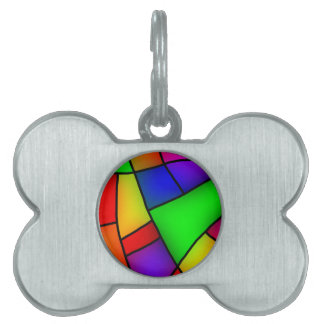 BRIGHT COLORFUL MODERN ART 112 FUN BACKGROUNDS TEM PET TAG