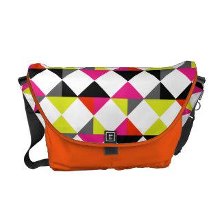 Bright Colorful Modern Geometric Diamond Pattern Commuter Bag