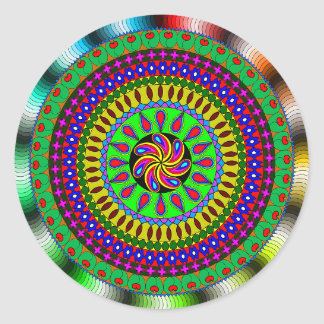 Bright & Colorful Mystical Mandala Sticker