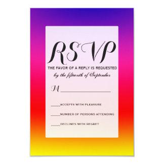 Bright Colorful Neon Gradient Card