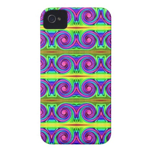 bright colorful pattern blackberry cases