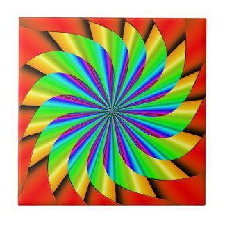 Bright Colorful Pinwheel Fractal Tiles
