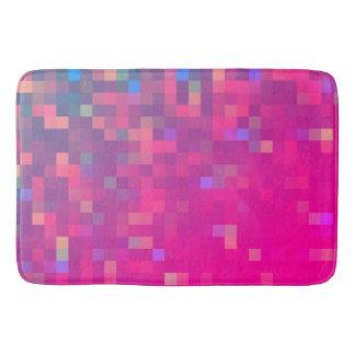 Bright & Colorful Pixel Pattern Bath Mat