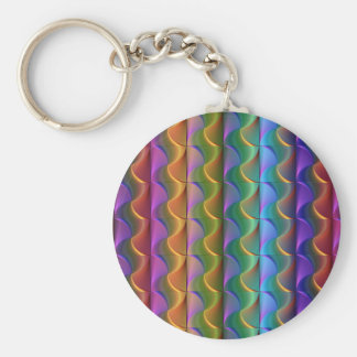 Bright Colorful Psychedelic Pattern Keychain