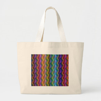 Bright Colorful Psychedelic Pattern Large Tote Bag