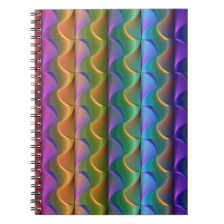 Bright Colorful Psychedelic Pattern Spiral Notebook