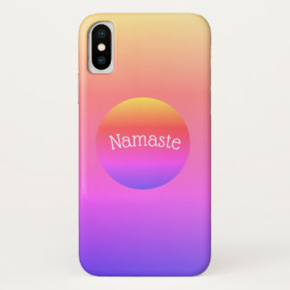 Bright Colorful Rainbow Namaste iPhone Case