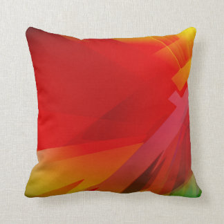Bright Colorful Red Abstract Throw Pillow